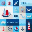 Set of Nautical Vintage Elements — Stock Vector #41873019