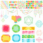 Scrapbook Design Elements - Colorful Geometric Set - in vector — Stock Vector #41873181