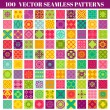 100 Seamless Colorful Patterns Background Collection — Stock Vector #41873499
