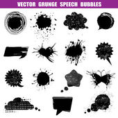 Grunge Speech Bubbles - Various Shapes - for design or scrapbook — Cтоковый вектор