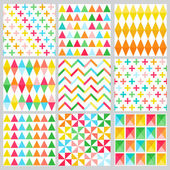 Geometric Background Collection - seamless patterns — Stock Vector