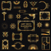 Art Deco Vintage Frames and Design Elements — Vecteur