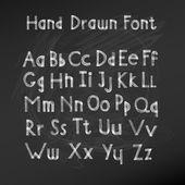 Hand drawn alphabet. Handwritten font. Vector Illustration — Stock Vector