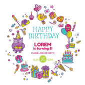 Birthday Invitation Card - with place for your text -  in vector — Stock Vector