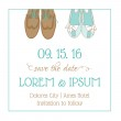Wedding Invitation Card - with Wedding Shoes - Save the Date — Stockvector