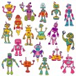Set of Robots - Hand Drawn Doodles — Stock Vector #46563041