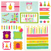 Birthday Party Invitation Set - for Birthday, Baby Shower, Party — Stock Vector