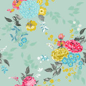 Seamless Floral Background - for design, scrapbook - in vector — Stock Vector