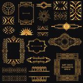 Art Deco Vintage Frames and Design Elements - in vector — Stock Vector