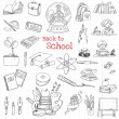 Back to School Doodles - Hand-Drawn Vector Illustration Design Elements — Stock Vector #50248365