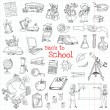 Back to School Doodles - Hand-Drawn Vector Illustration Design Elements — Stock Vector #50248377