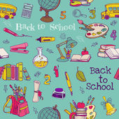 Back to School - Seamless Background - for design, texture, wall — Stock Vector
