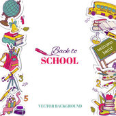 Back to School Background- for design, postcard, texture — Stock Vector