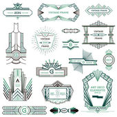 Art Deco Vintage Frames and Design Elements - in vector — Vector de stock