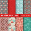 8 Seamless Patterns - Floral Retro Set - texture for wallpaper — Stock Vector #51103571
