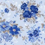Vintage Floral Background - seamless pattern for design — Stock Vector