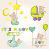 Baby BearSet - for Baby Shower or Baby Arrival Cards - in vector — Stockvector