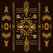 Tribal Vintage Aztec Background - hand drawn in vector — Stock Vector
