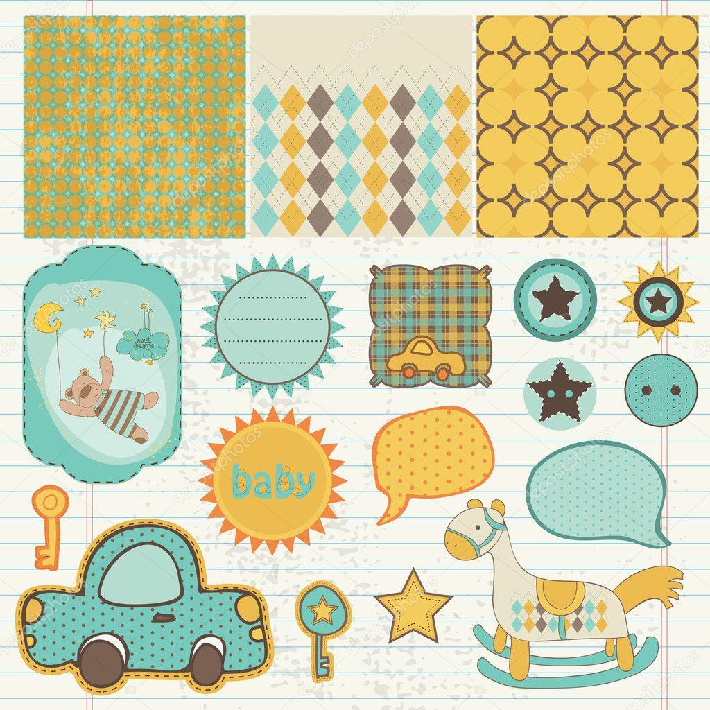 Baby Boy Scrapbook Designs
