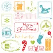 Christmas Grunge Stamps Collection - great set for your design — Stock Vector #7383899