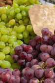 White and blue grapes — Stock Photo