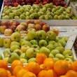 Fruitmarket Oranges and Apples — Foto de Stock
