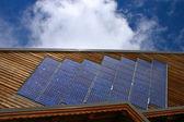 Chalet with solar panels - Horizontal — Stock Photo