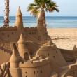 Castle Sand Sculpture - Stock Photo