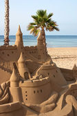 Castle Sand Sculpture — Stock Photo