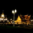 Temple and palace. At night. — Stock Photo