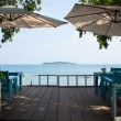 Restaurant by the sea. — 图库照片