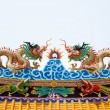 Royalty-Free Stock Photo: Dragon statue roof.