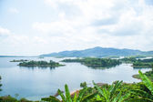 Scenic view mountains, islands and forests. — Stock Photo