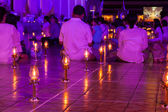 People joined religious rituals. — Stock Photo