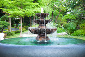 Fountain in the garden. — Stock Photo