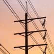 Electric poles and wires. — Stock Photo