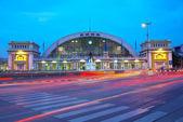 železniční stanice. — Stock fotografie