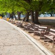 Benches along the path. — Stock Photo