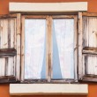 Old wooden windows — Stock Photo