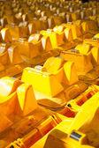 Yellow bins — Stock Photo