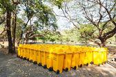 Yellow bins — Стоковое фото