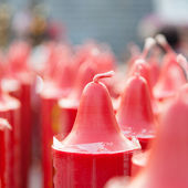 Red candles — Stock fotografie