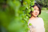Portrait asian women in the park — Stock Photo
