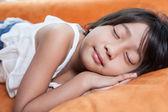 спящая девушка — Стоковое фото