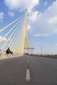 Road on the Rama VIII Bridge — Stock Photo
