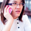 Women are talking mobile phone. — Stock Photo #7214975