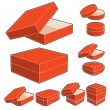 Stock Vector: Container set