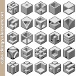 Stock Vector: 3d cube logo design pack