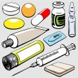 Stock Vector: Medicament set