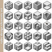3d cube logo design pack — Vector de stock